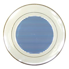 Classic Marine Stripes Pattern, Retro Stylised Striped Theme Porcelain Plates