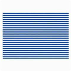 Classic Marine Stripes Pattern, Retro Stylised Striped Theme Large Glasses Cloth by Casemiro