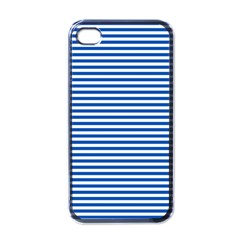 Classic Marine Stripes Pattern, Retro Stylised Striped Theme Iphone 4 Case (black) by Casemiro