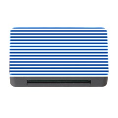 Classic Marine Stripes Pattern, Retro Stylised Striped Theme Memory Card Reader With Cf by Casemiro