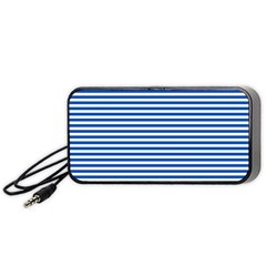 Classic Marine Stripes Pattern, Retro Stylised Striped Theme Portable Speaker
