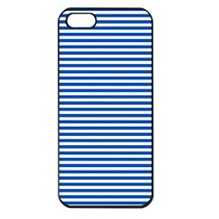 Classic Marine Stripes Pattern, Retro Stylised Striped Theme Iphone 5 Seamless Case (black) by Casemiro