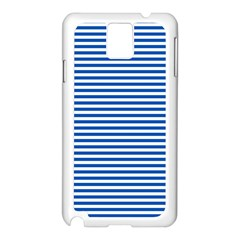 Classic Marine Stripes Pattern, Retro Stylised Striped Theme Samsung Galaxy Note 3 N9005 Case (white) by Casemiro