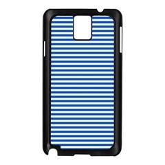 Classic Marine Stripes Pattern, Retro Stylised Striped Theme Samsung Galaxy Note 3 N9005 Case (black) by Casemiro