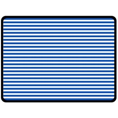 Classic Marine Stripes Pattern, Retro Stylised Striped Theme Double Sided Fleece Blanket (large)  by Casemiro