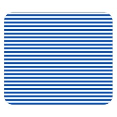 Classic Marine Stripes Pattern, Retro Stylised Striped Theme Double Sided Flano Blanket (small)  by Casemiro