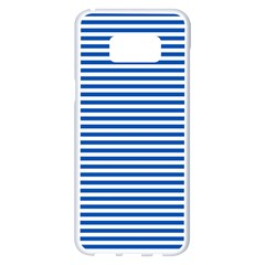 Classic Marine Stripes Pattern, Retro Stylised Striped Theme Samsung Galaxy S8 Plus White Seamless Case by Casemiro