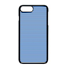 Classic Marine Stripes Pattern, Retro Stylised Striped Theme Iphone 8 Plus Seamless Case (black) by Casemiro