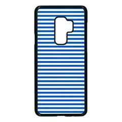 Classic Marine Stripes Pattern, Retro Stylised Striped Theme Samsung Galaxy S9 Plus Seamless Case(black) by Casemiro