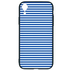 Classic Marine Stripes Pattern, Retro Stylised Striped Theme Iphone Xr Soft Bumper Uv Case by Casemiro