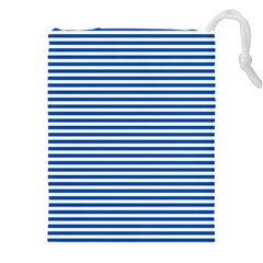 Classic Marine Stripes Pattern, Retro Stylised Striped Theme Drawstring Pouch (3xl)