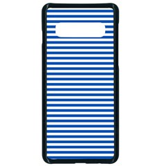 Classic Marine Stripes Pattern, Retro Stylised Striped Theme Samsung Galaxy S10 Seamless Case(black) by Casemiro