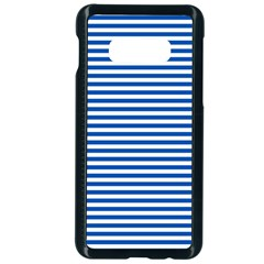 Classic Marine Stripes Pattern, Retro Stylised Striped Theme Samsung Galaxy S10e Seamless Case (black) by Casemiro