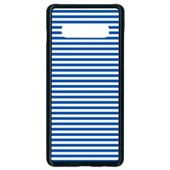 Classic Marine Stripes Pattern, Retro Stylised Striped Theme Samsung Galaxy S10 Plus Seamless Case (black) by Casemiro