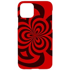 Spiral Abstraction Red, Abstract Curves Pattern, Mandala Style Iphone 11 Pro Black Uv Print Case by Casemiro