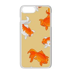 Gold Fish Seamless Pattern Background Iphone 8 Plus Seamless Case (white)