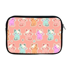 Cute Kawaii Kittens Seamless Pattern Apple Macbook Pro 17  Zipper Case