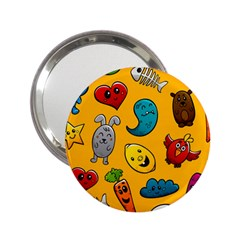Graffiti Characters Seamless Ornament 2 25  Handbag Mirrors by Amaryn4rt