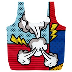 Rays Smoke Pop Art Style Vector Illustration Full Print Recycle Bag (xxl)