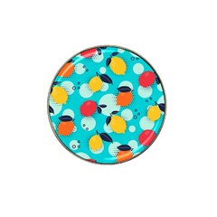 Pop Art Style Citrus Seamless Pattern Hat Clip Ball Marker (10 Pack) by Amaryn4rt