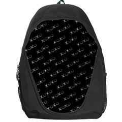 Xoxo Black And White Pattern, Kisses And Love Geometric Theme Backpack Bag by Casemiro
