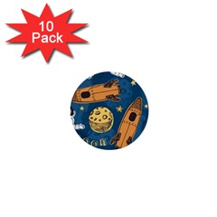 Missile Pattern 1  Mini Buttons (10 Pack)