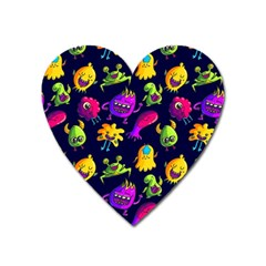 Space Patterns Heart Magnet by Amaryn4rt