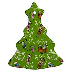 Seamless Pattern With Kids Christmas Tree Ornament (two Sides) by Amaryn4rt