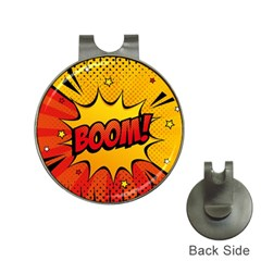 Explosion Boom Pop Art Style Hat Clips With Golf Markers