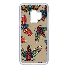 Tattoos Colorful Seamless Pattern Samsung Galaxy S9 Seamless Case(white)