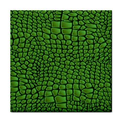 Seamless Pattern Crocodile Leather Tile Coaster by Amaryn4rt