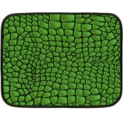 Seamless Pattern Crocodile Leather Fleece Blanket (mini) by Amaryn4rt