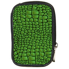 Seamless Pattern Crocodile Leather Compact Camera Leather Case