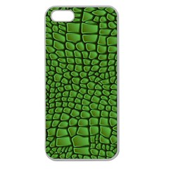 Seamless Pattern Crocodile Leather Apple Seamless Iphone 5 Case (clear)