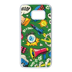 Pop Art Colorful Seamless Pattern Samsung Galaxy S7 White Seamless Case by Amaryn4rt