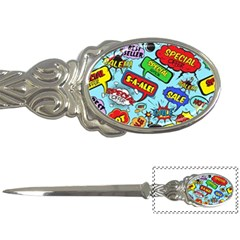 Comic Bubbles Seamless Pattern Letter Opener by Amaryn4rt