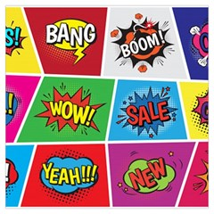 Pop Art Comic Vector Speech Cartoon Bubbles Popart Style With Humor Text Boom Bang Bubbling Expressi Long Sheer Chiffon Scarf