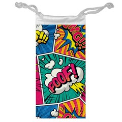 Comic Colorful Seamless Pattern Jewelry Bag by Amaryn4rt
