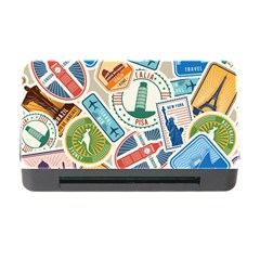 Travel Pattern Immigration Stamps Stickers With Historical Cultural Objects Travelling Visa Immigrant Memory Card Reader With Cf