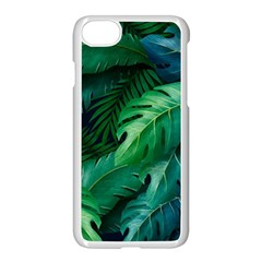 Tropical Green Leaves Background Iphone 7 Seamless Case (white)