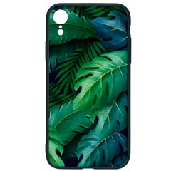 Tropical Green Leaves Background Iphone Xr Soft Bumper Uv Case