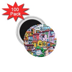 Menton Old Town France 1 75  Magnets (100 Pack)  by Amaryn4rt