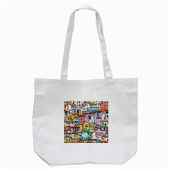 Menton Old Town France Tote Bag (white)