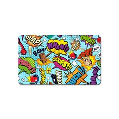 Comic Elements Colorful Seamless Pattern Magnet (name Card)