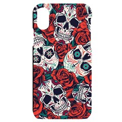 Vintage Day Dead Seamless Pattern Iphone X/xs Black Uv Print Case