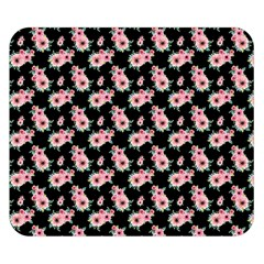 Floral Print Double Sided Flano Blanket (small)