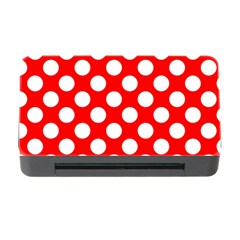 Large White Polka Dots Pattern, Retro Style, Pinup Pattern Memory Card Reader With Cf by Casemiro