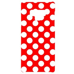 Large White Polka Dots Pattern, Retro Style, Pinup Pattern Samsung Note 9 Black Uv Print Case  by Casemiro