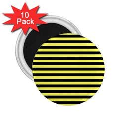 Wasp Stripes Pattern, Yellow And Black Lines, Bug Themed 2 25  Magnets (10 Pack)  by Casemiro