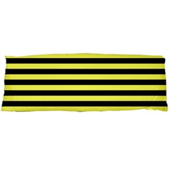 Wasp Stripes Pattern, Yellow And Black Lines, Bug Themed Body Pillow Case (dakimakura) by Casemiro